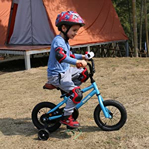 91a975ea adf9 4ec4 8959 5e34b8f3b149.  CR0,0,1000,1000 PT0 SX300 V1    - JOYSTAR Totem Kids Bike with Training Wheels for 12 14 16 18 inch Bike, Kickstand for 18 inch Bike (Blue Ivory Pink Green Silver)