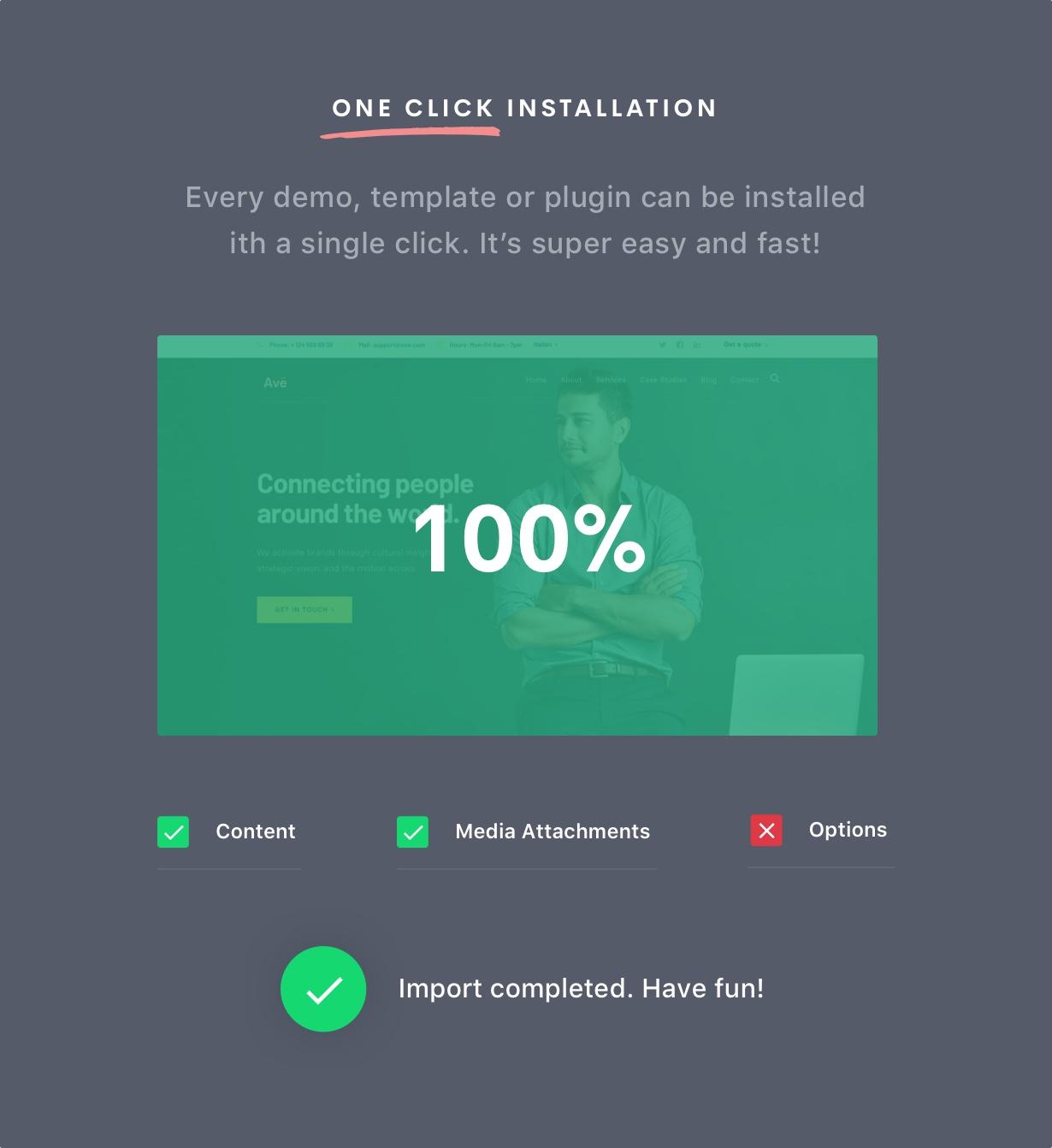 Installer 3 - Ave - Responsive Multi-Purpose WordPress Theme