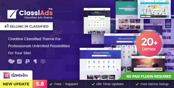 Preview 5.8.  large preview - Classiads - Classified Ads WordPress Theme