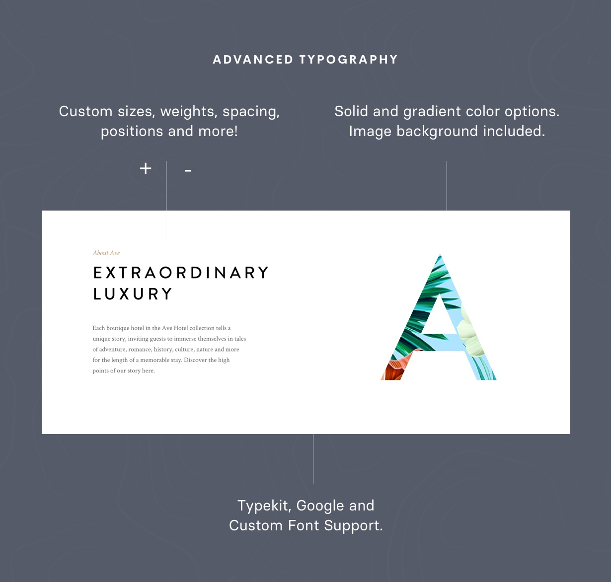 Typography - Ave - HTML Responsive Multi Purpose Template