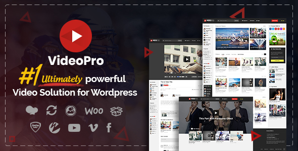 VideoPro Preview.  large preview - VideoPro - Video WordPress Theme