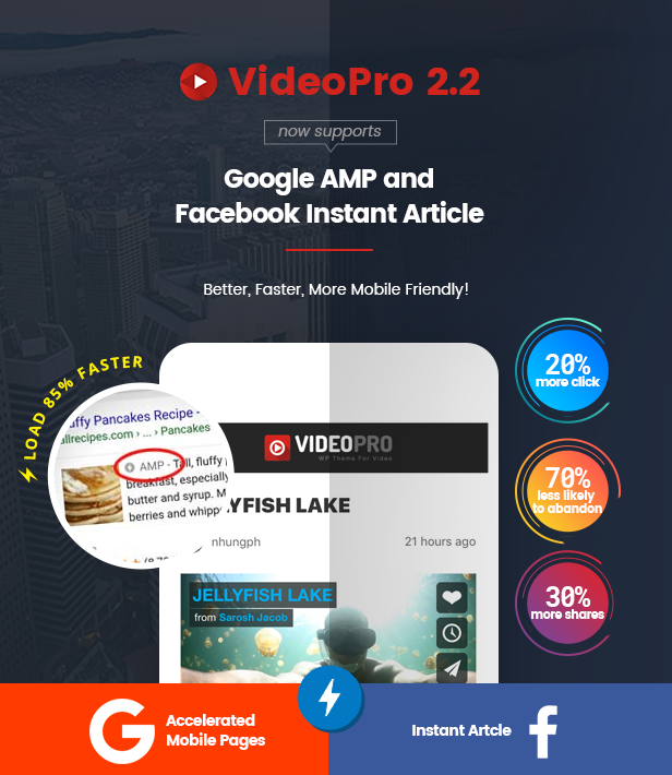 amp - VideoPro - Video WordPress Theme