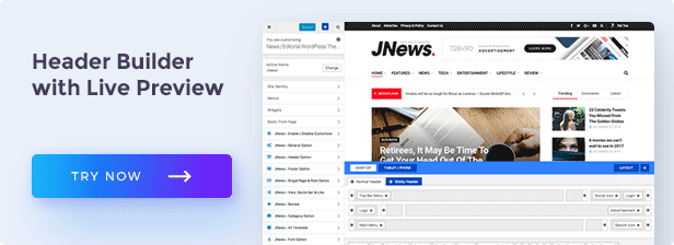 backend headerbuilder - JNews - WordPress Newspaper Magazine Blog AMP Theme