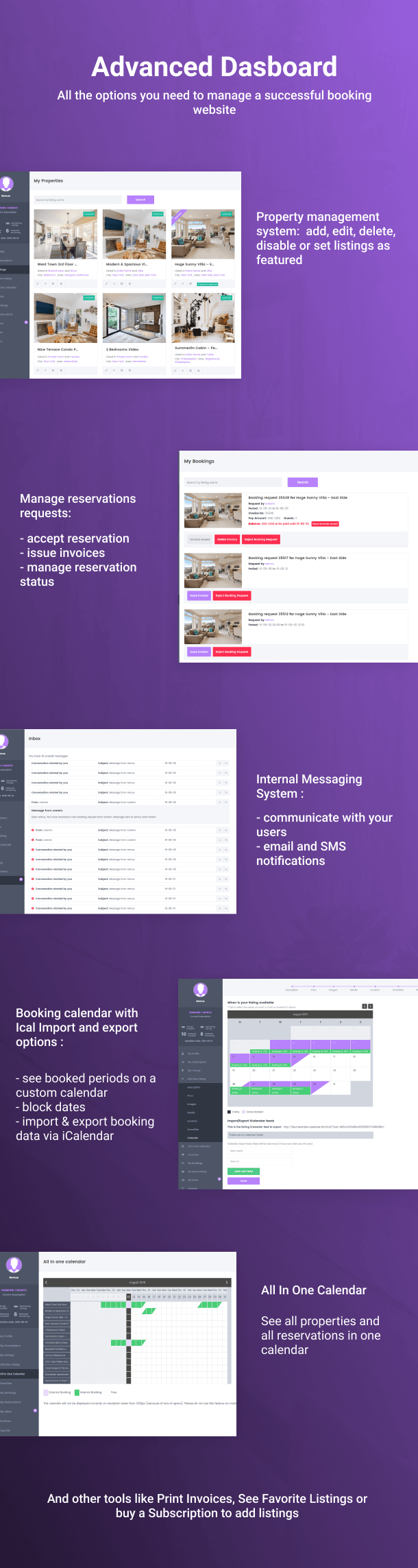 booking dashboard 8 - WP Rentals - Booking Accommodation WordPress Theme