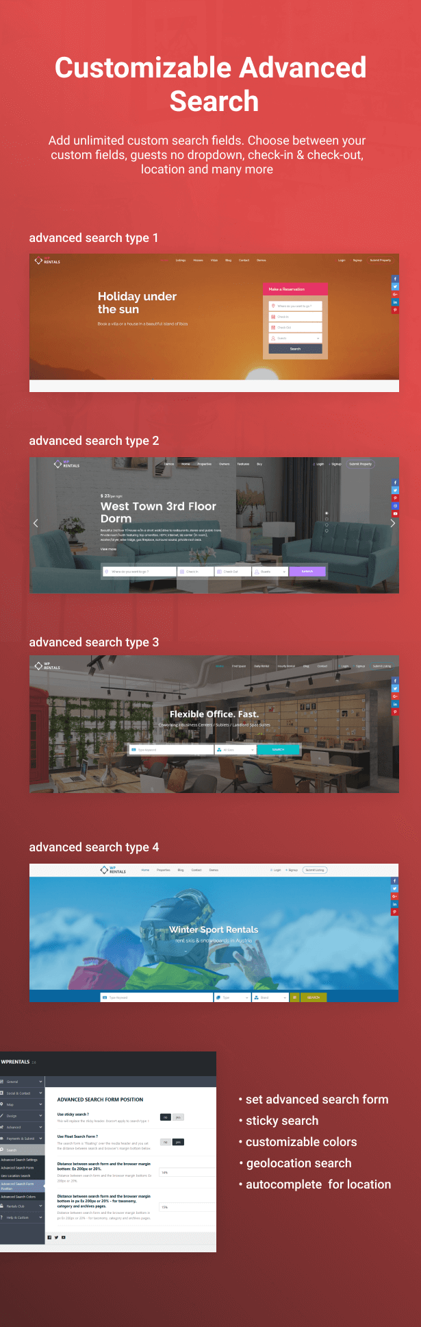 booking search4 - WP Rentals - Booking Accommodation WordPress Theme