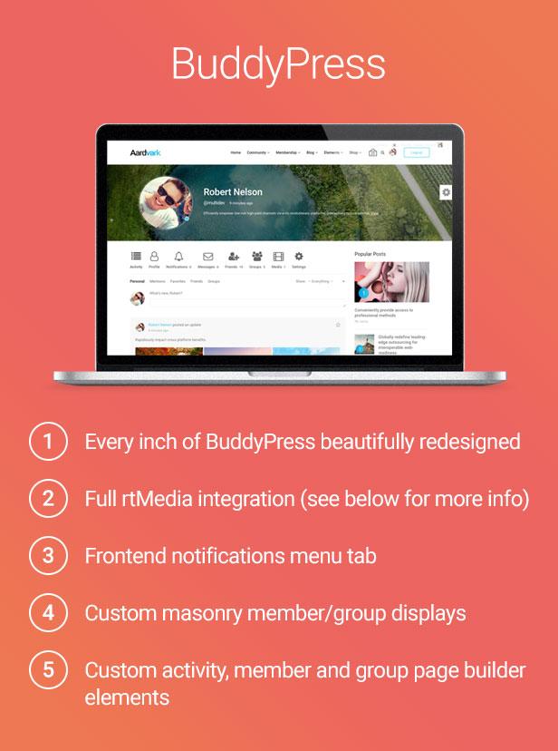 buddypress - Aardvark - Community, Membership, BuddyPress Theme