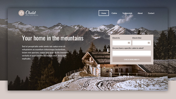 byt chalet - Book Your Travel - Online Booking WordPress Theme