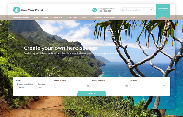 byt default - Book Your Travel - Online Booking WordPress Theme