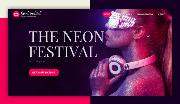 byt eventfestival - Book Your Travel - Online Booking WordPress Theme