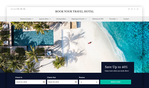 byt hotel - Book Your Travel - Online Booking WordPress Theme