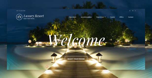 byt luxuryresort - Book Your Travel - Online Booking WordPress Theme