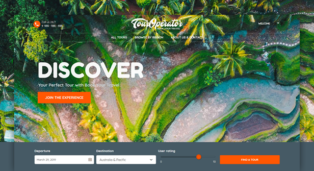 byt touroperator - Book Your Travel - Online Booking WordPress Theme