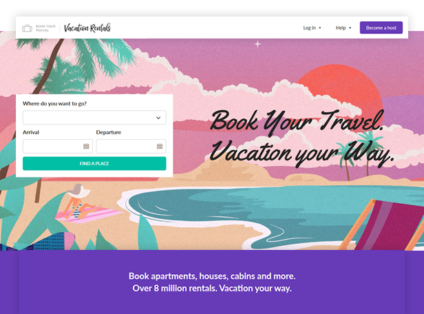 byt vacationrentals - Book Your Travel - Online Booking WordPress Theme