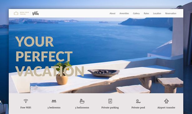byt villa - Book Your Travel - Online Booking WordPress Theme