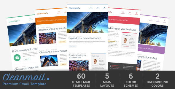 cleanMail - Fresh Newsletter - Hybrid Email Template + Access to Gifky Layout Builder
