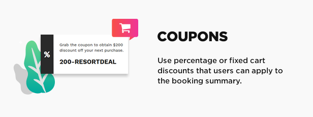 coupons - Book Your Travel - Online Booking WordPress Theme