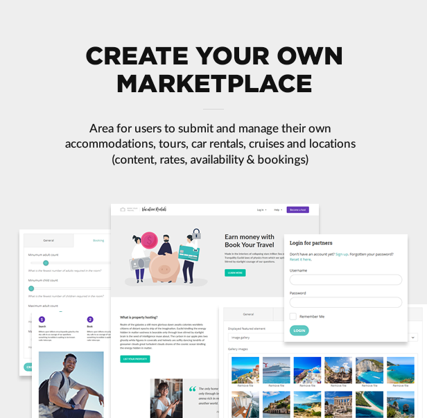 create marketplace - Book Your Travel - Online Booking WordPress Theme