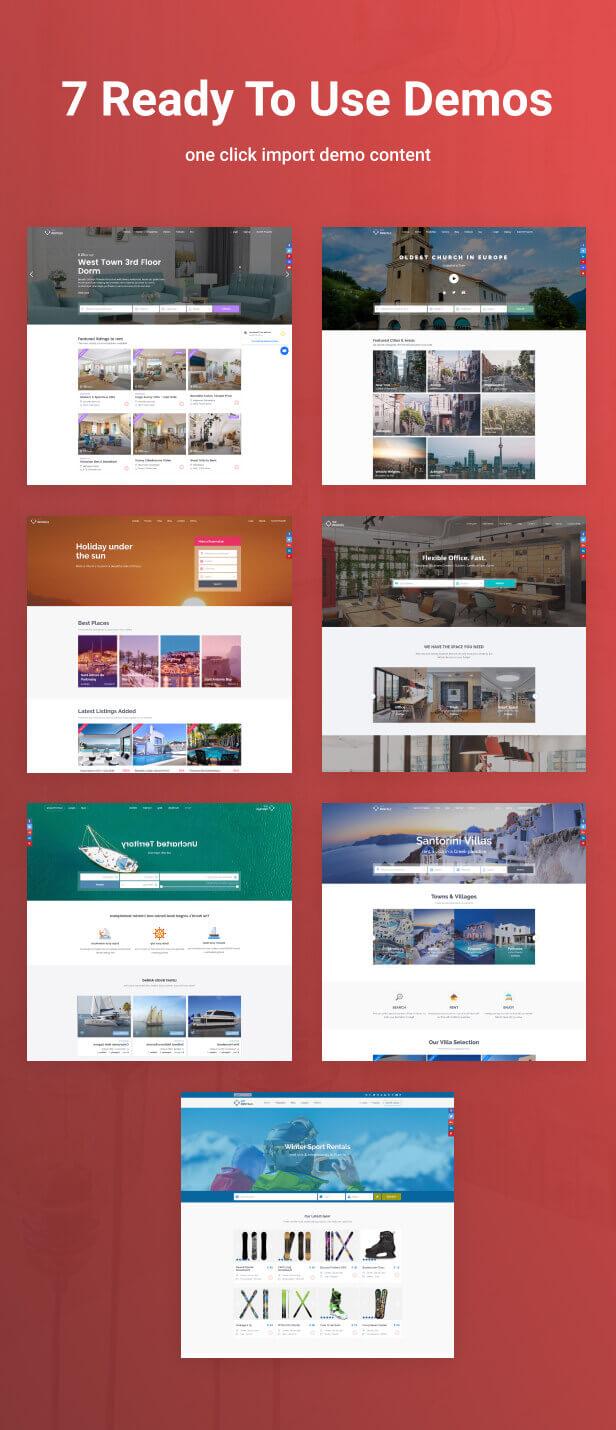 demos1 - WP Rentals - Booking Accommodation WordPress Theme