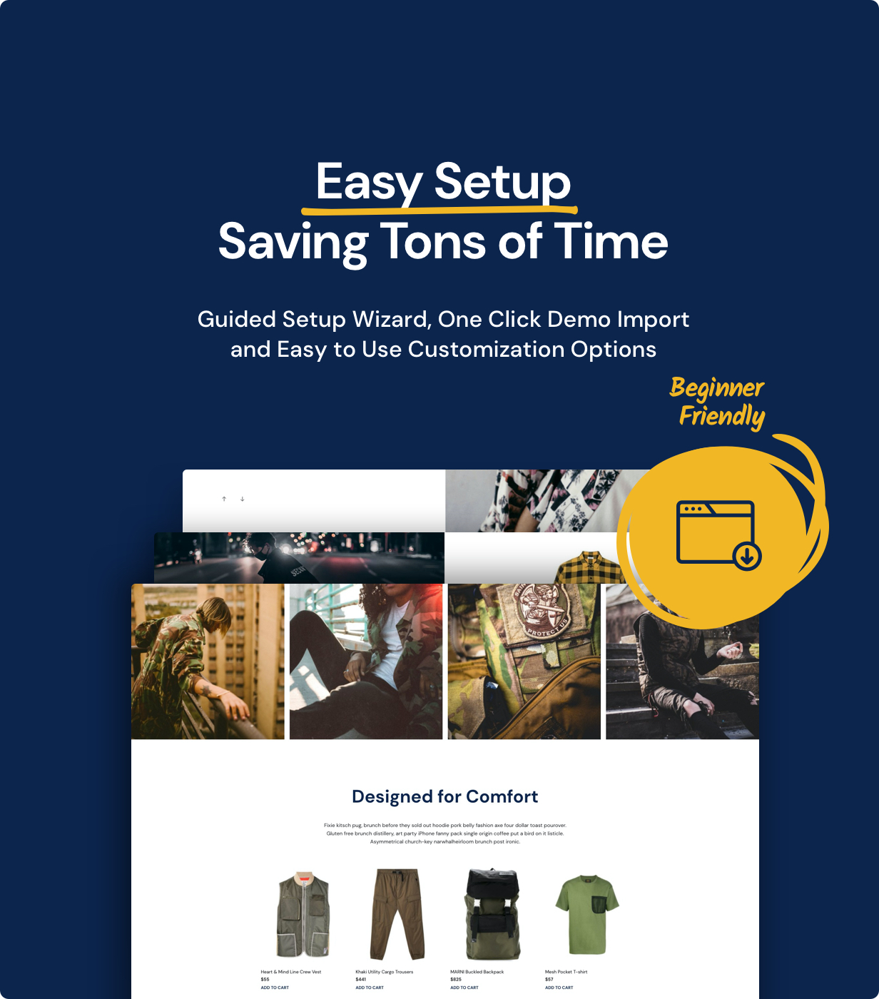 easy setup - Mr. Tailor - eCommerce WordPress Theme for WooCommerce