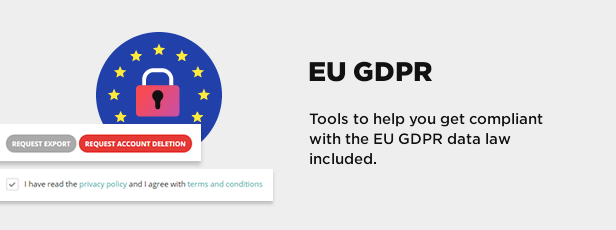 eu gdpr data protection law - Book Your Travel - Online Booking WordPress Theme
