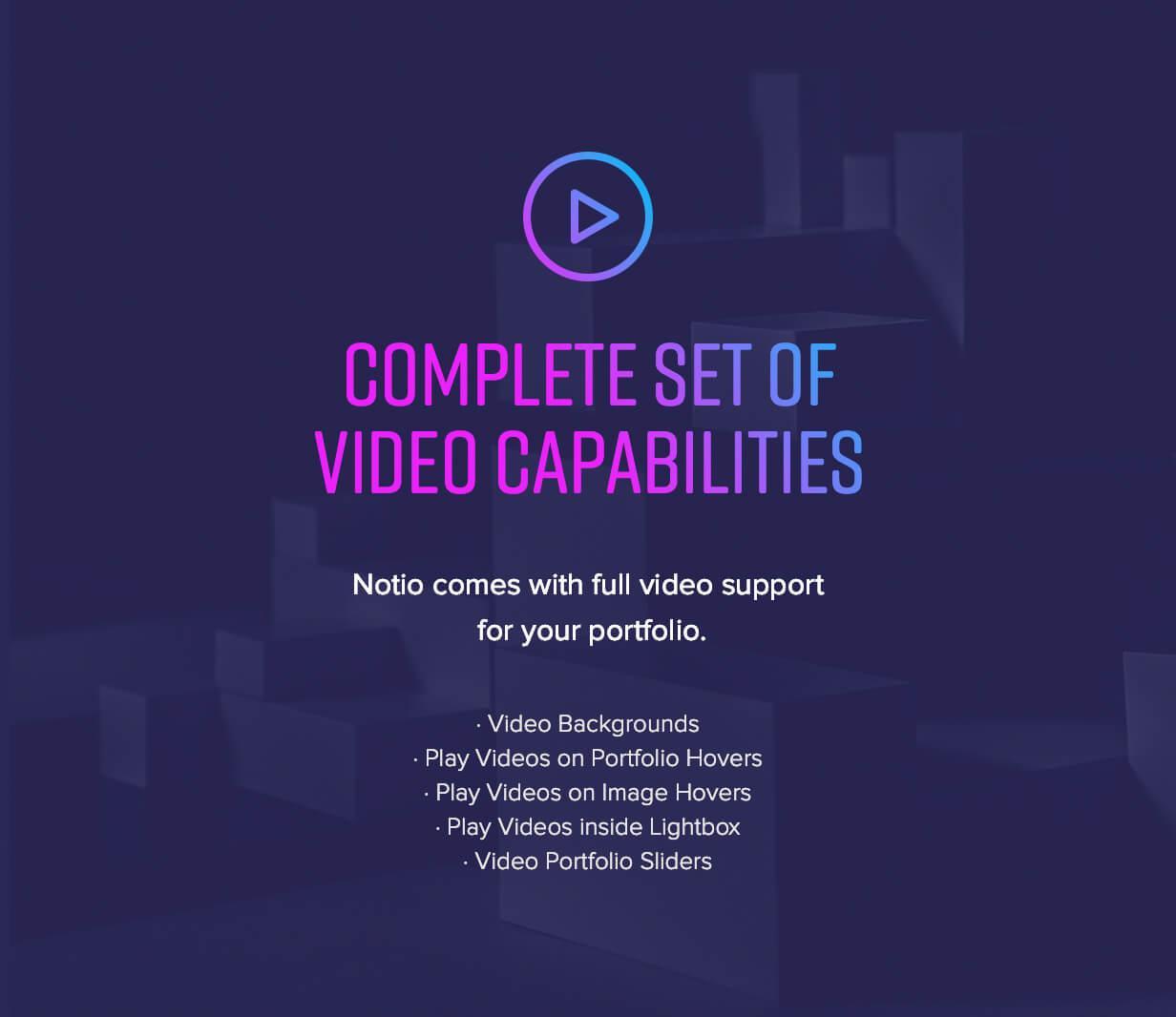 features 003 - Notio - Creative Portfolio WordPress Theme