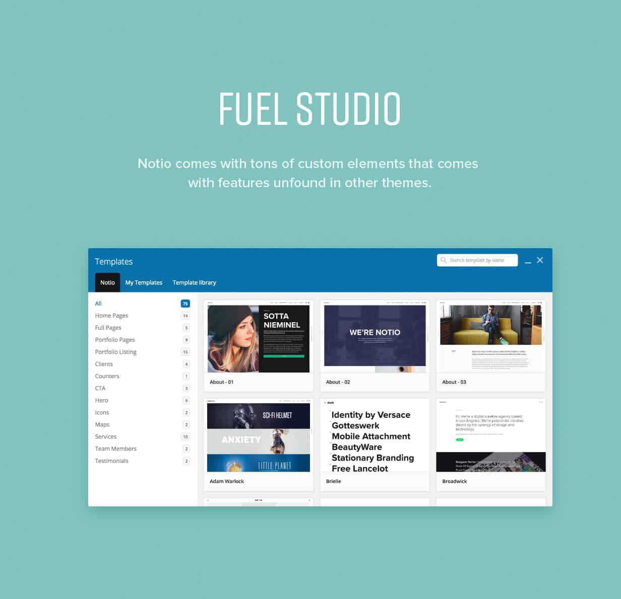 features 008 - Notio - Creative Portfolio WordPress Theme