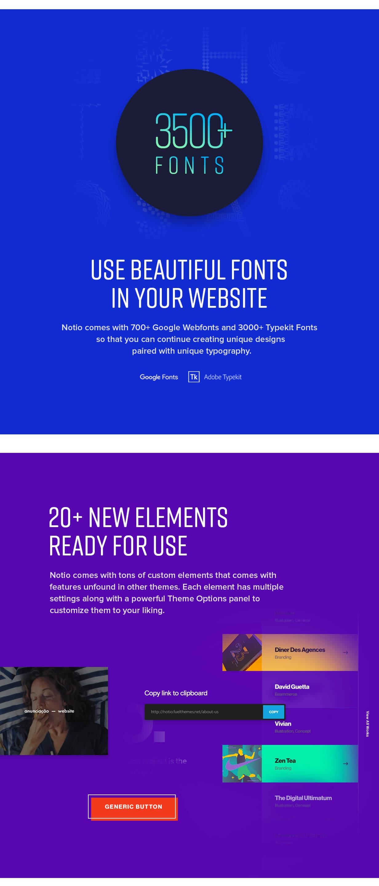 features 009 - Notio - Creative Portfolio WordPress Theme