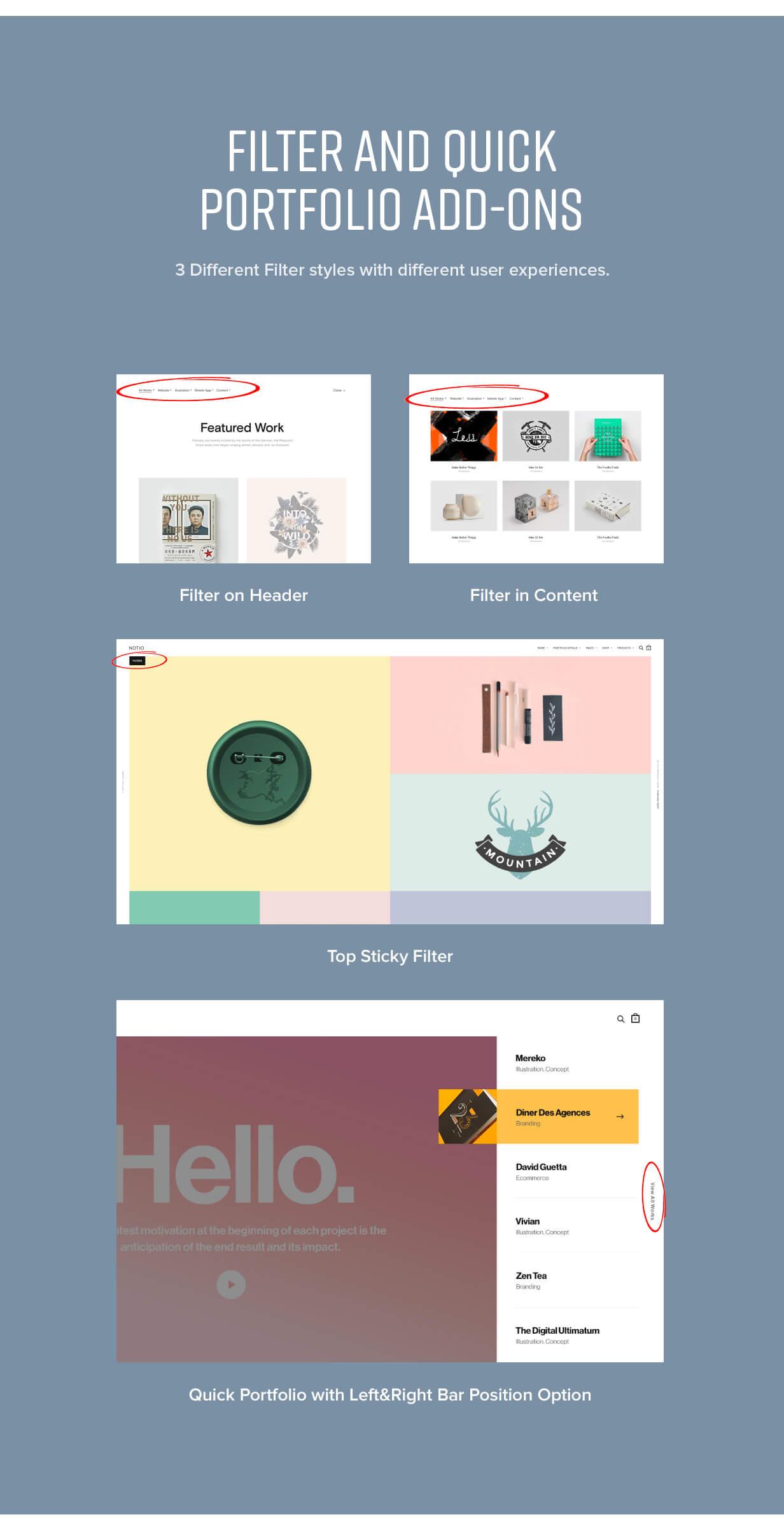 features 014 - Notio - Creative Portfolio WordPress Theme