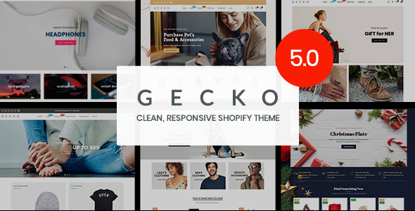 gecko5.  large preview - Gecko 5.0 - Responsive Shopify Theme - RTL support