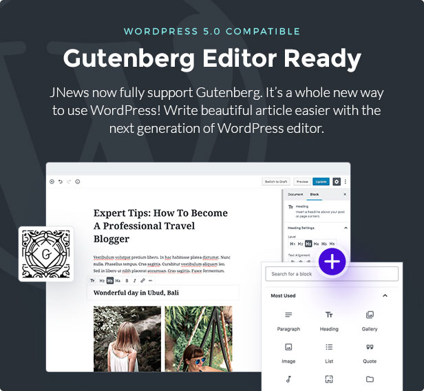 gutenberg - JNews - WordPress Newspaper Magazine Blog AMP Theme