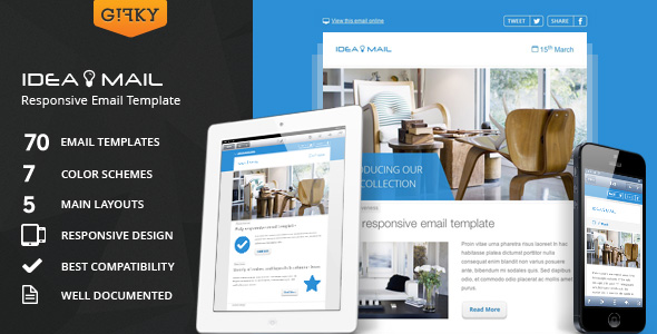 ideaMail - Fresh Newsletter - Hybrid Email Template + Access to Gifky Layout Builder
