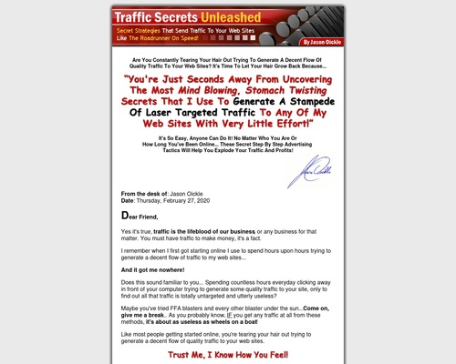 joickle x400 thumb - Traffic Secrets Unleashed by Jason Oickle