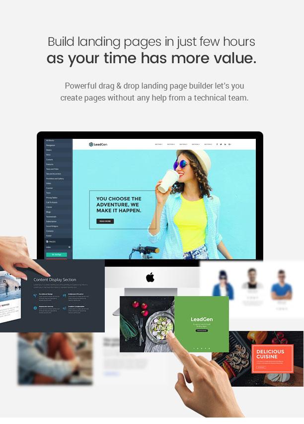 leadgen build landing pages - LeadGen - Multipurpose Marketing Landing Page Pack with HTML Builder
