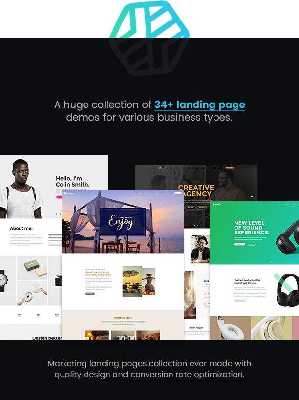 leadgen landing page v3 - LeadGen - Multipurpose Marketing Landing Page Pack with HTML Builder