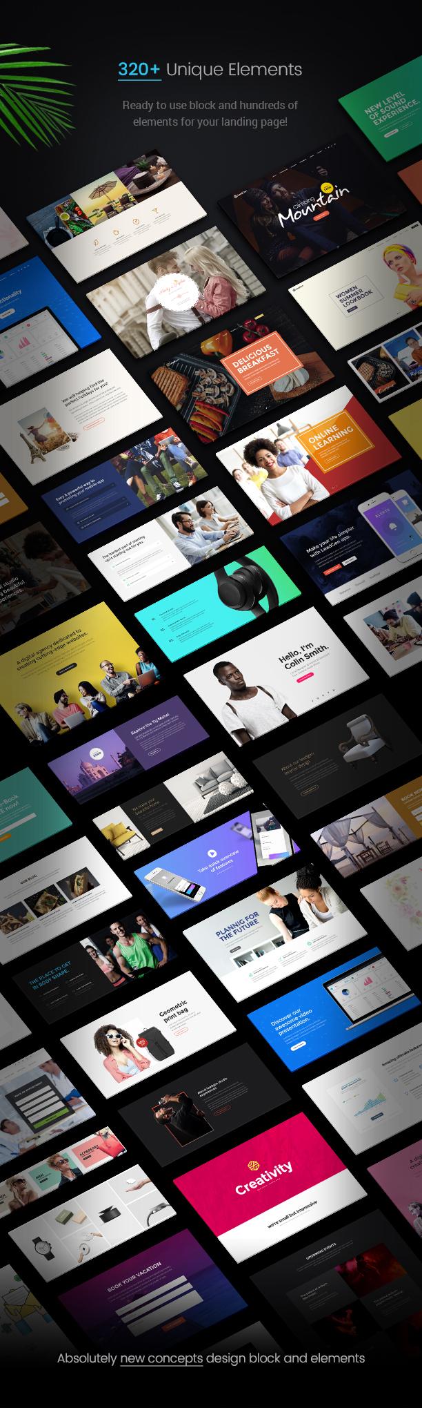 leadgen unique elements - LeadGen - Multipurpose Marketing Landing Page Pack with HTML Builder