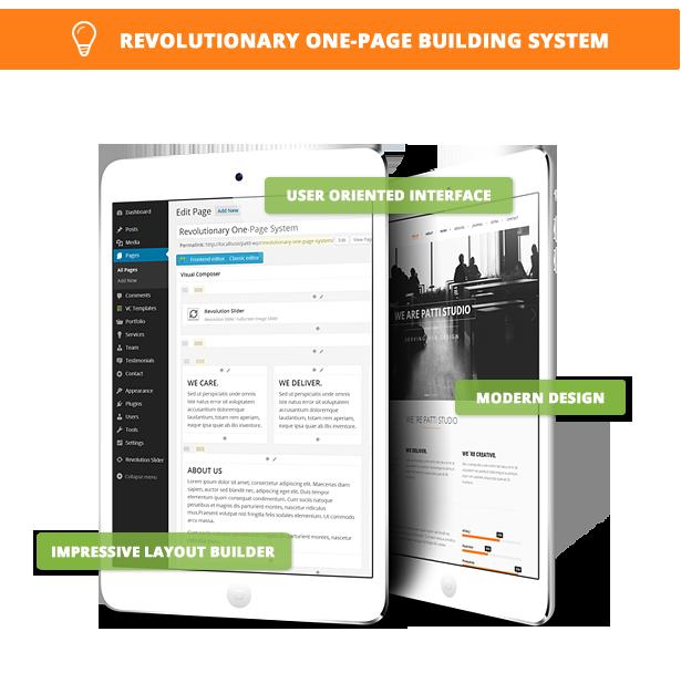 main feature - Patti - Parallax One Page WordPress Theme