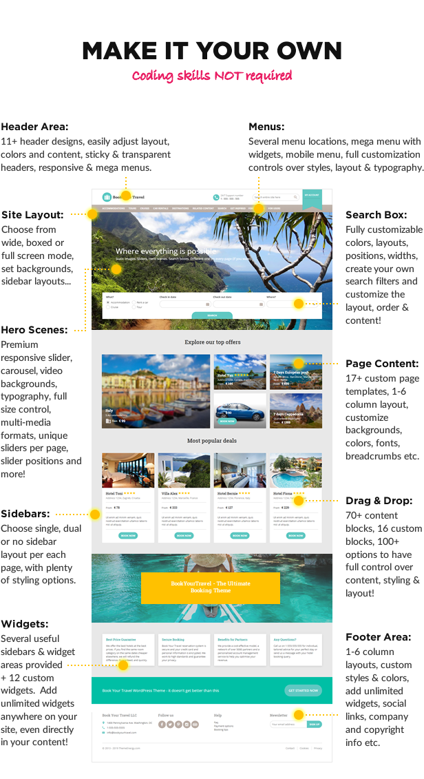 make it your own1 - Book Your Travel - Online Booking WordPress Theme