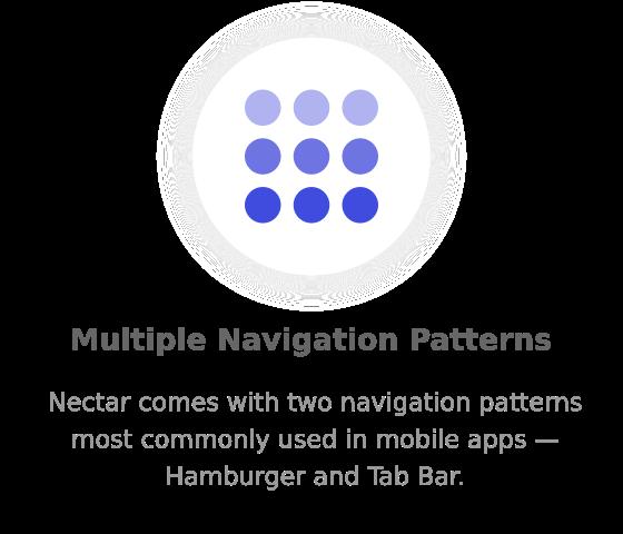 multiple navigation - Nectar - Mobile Web App Kit
