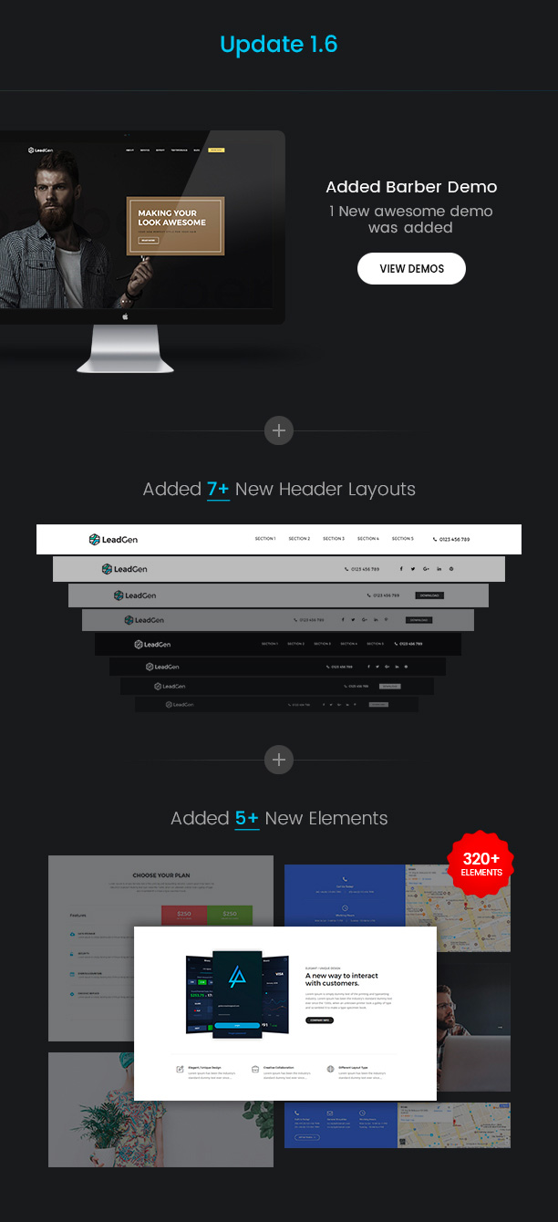 new demos 1 6 new - LeadGen - Multipurpose Marketing Landing Page Pack with HTML Builder