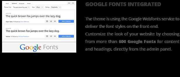 patti google fonts - Patti - Parallax One Page WordPress Theme
