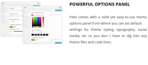 patti options panel - Patti - Parallax One Page WordPress Theme