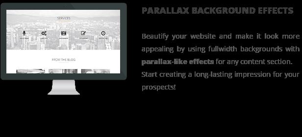 patti parallax - Patti - Parallax One Page WordPress Theme