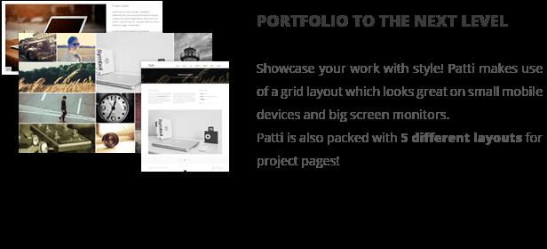 patti portfolio - Patti - Parallax One Page WordPress Theme