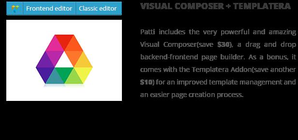 patti visual composer - Patti - Parallax One Page WordPress Theme