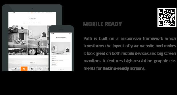 patti wp mobile ready - Patti - Parallax One Page WordPress Theme