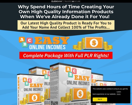 plrmonster x400 thumb - Easy Online Incomes Complete PLR Package