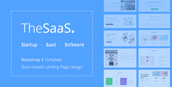 preview.  large preview - TheSaaS - Responsive Bootstrap SaaS, Startup & WebApp Template