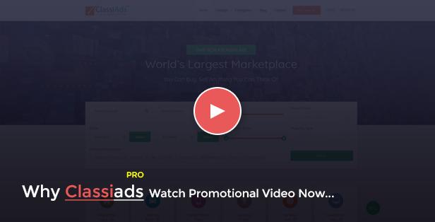 promo video - Classiads - Classified Ads WordPress Theme