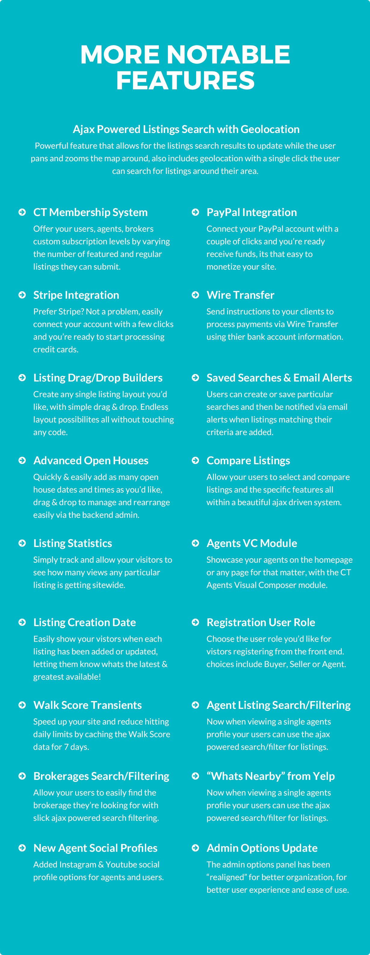 re7 tf description notable features - Real Estate 7 WordPress