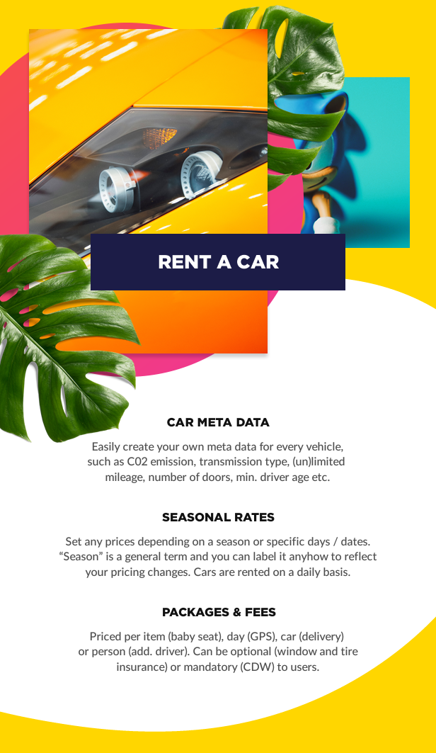 rent a car booking - Book Your Travel - Online Booking WordPress Theme
